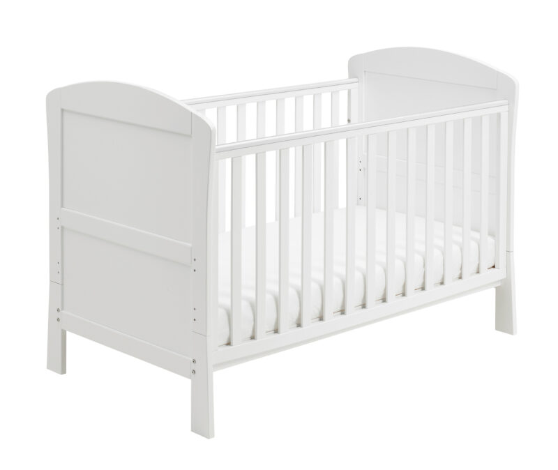 Aston Drop Side Cot Bed White