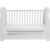 Bel sleigh cot bed drop side with drawer front sofa