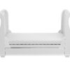 Bel sleigh cot bed drop side with drawer - bed