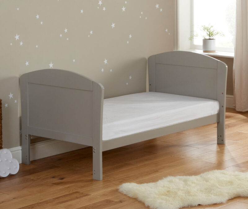 aston drop side cot bed grey bed mode