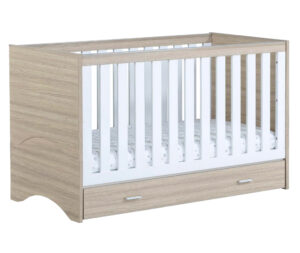 Veni cot bed with drawer Oak White