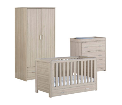 Luno 3 pieces room set with drawer Oak