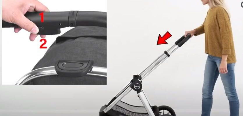 MeMore Pushchair Fold Chassis direction