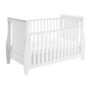 stella sleigh cot bed drop side with drawer white 4