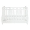 stella sleigh cot bed drop side with drawer front
